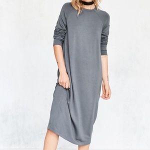 Silence + Noise Mason Midi Sweatshirt Dress